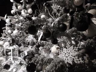 décor Noël chambre noire Chenonceau