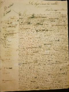 manuscrit lys vallee
